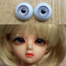 12mm Hand Made BJD Doll Eyes Glitter Purple Acrylic Half Ball