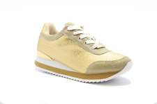 bebe Corinegldfx Corine Wmn's (m) Gold Faux Synthetic Leather Lifestyle Shoes 9