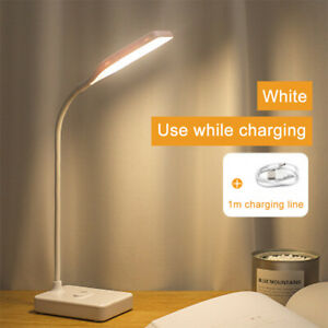 LED Dimmable Reading Desk Lamp Flexible Touch Bedside Table Study Night Light UK