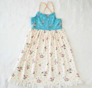 Auranso Girls Princess Nightgowns Lace Pajamas Dress Cotton Sleepwear Toddler Nightdress 3-12 Years