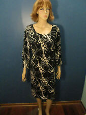 size 18 black and white splatter print dress by TOWER HILL