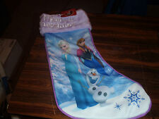 "Disney Frozen 20"" Christmas Stocking Anna Elsa Olaf NEW With Tags"