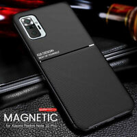 For Xiaomi Redmi Note 10 /10 Pro Max Hybrid Magnetic Soft Rubber Back Case Cover