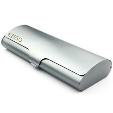 Grey Hard Metal Glasses Case Top Design Matter Finish Eyeglasses Travel Cases