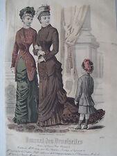 1i72 Gravure de mode 1879 journal des demoiselles