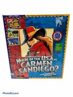 "Broderbund Where in the USA Is Carmen Sandiego PC MS-Dos 3.5"" Floppy Disk Game"