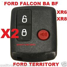 2 x Ford BA BF Falcon Territory SX SY Ute/Wagon 2002-2011 Car Remote 3 Button
