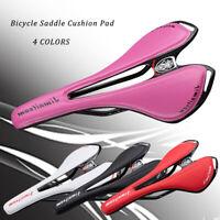 Bicycle MTB Road Bike Carbon Fiber+PU Leathe Racing Saddle PU Seat Cushion