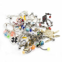 Lot Of 20 Belly Button Ring Navel Ring Randomly Picked 14g Surgical Steel