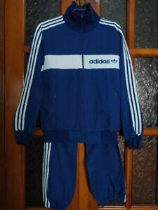 VINTAGE Adidas Yugoslavia Track Suit Jacket Pants 70-80s Blue Medium
