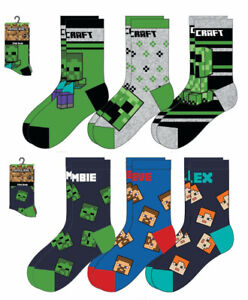 Minecraft Socken 3er Pack 23 - 30