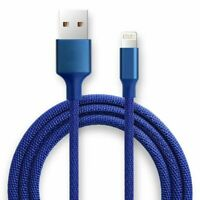 5-Pack Data Sync Fast Charging Lightning USB Cable For Apple iPhone 3 Feet Blue