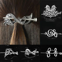 Women Hairpin Celtics Knot Metal Stick Slide Hair Clips Retro Hair Jewelry Gift