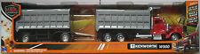 NewRay-KENWORTH w900 dump truck avec remorque rouge/gris 1:43 Nouveau/OVP