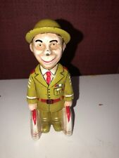 CAST IRON ARMY  DOUGHBOY SOLDIER BANK TOY STILL MILITARY