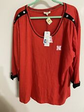NEBRASKA CORNHUSKERS Comfy Slouch Top  Women's 3X NWT Blouse Shirt Pullover