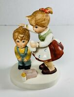 Lefton Big Sister Washing  Little Brother Porcelain Figurine Hand Painted 07820