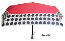 New Womens Red & Black & White ShedRain Umbrella