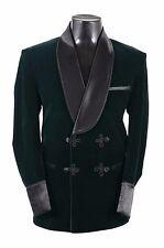 Men Elegant Luxury Stylish Designer Green Smoking Jacket Party Wear Blazers