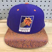 Phoenix Suns NBA Basketball Mitchell & Ness Purple Snap Back HWC Hat EUC Cap
