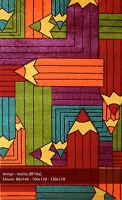 Tappeto bambino 80x140 amigo antipiling intarsiato 3d matita