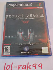 PS2 - PS3 * PROJECT ZERO 2 *  RARE  NEUF SOUS BLISTER playstation 2 / no zelda