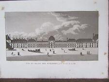 GRAVURE 1839 PARIS PALAIS DES TUILERIES COTE COUR