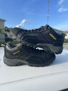 CAT Caterpillar Size 9 Men's SteelToe Work Shoes Boots STK#P89955 Black Lowtop🔥