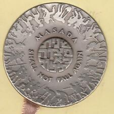 Israel 1970 Masada Shall Not Fall Again State Medal 45mm 46g Silver 935 + Box #3