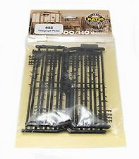16 British model railway telegraph poles OO HO Ratio 452