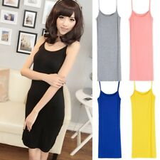 Women Slip Dress Strappy Vest Top Stretchy Camisole Modal Petticoat Underdress