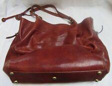 "Bosca Italy Women's Leather Large Shopping/Handbag Brown 16 x 12.5"""