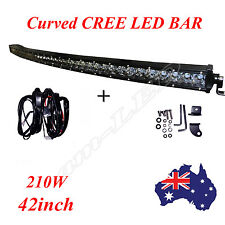 CREE Single Row LED Light Bar 42 inch 210W Off road 4x4 Flood Spot SUV 4WD Lamp