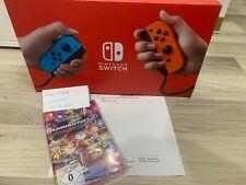 NEU Nintendo Switch V2 Konsole Joy Con mit Mario Kart 8 Spiel Rechnung+Garantie