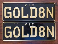 Vic Number Plate - GOLD8N