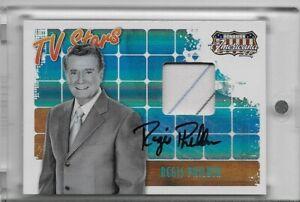 2008 Donruss Americana II Regis Philbin Autograph Worn Tie! #'d 31/35