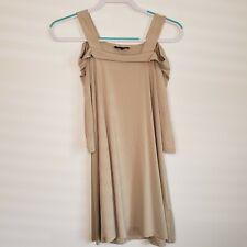 Lafayette 148 Beige Cold Shoulder Swing Tunic Dress Size Petite