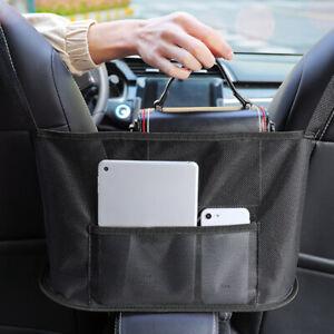 Car Net Pocket Handbag Holder Between Seats Car Organizer Purse Storage Mesh TN