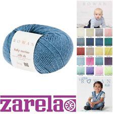 Rowan Baby Merino Silk Dk Yarn 50g All Colours and Pattern Books