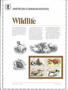 #1 8c Wildlife Block #1464-1467  USPS Commemorative Stamp Panel Essay-Rare