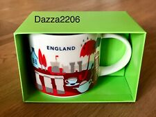 STARBUCKS ENGLAND UK 2017 YAH YOU ARE HERE MUG 14oz/414ml. BRAND NEW WITH BOX.