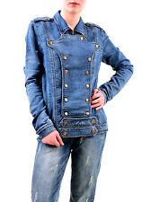 One Teaspoon Women's Cobaine Cavalry Denim Jacket Blue Size L RRP $198 BCF75