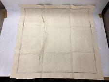 "2 Antique French Linen Ladderwork Pinwheel Pillow Sham Cases 27.5"" Square"