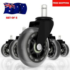 5pcs Rollerblade Office Desk Chair Wheels Replacement Rolling Caster Grip Ring O