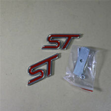 Red Big ST Metal Grille Emblem + Sticker Badge focus Supercharged Sport Car Logo