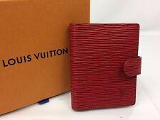 Auth Louis Vuitton Epi Red Card Case 7F080260N