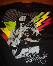 BOB MARLEY PLAYING GUITAR JAMAICAN FLAG T-Shirt 3XL XXXL NEW