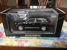 Minichamps Porsche Cayenne S, Black Metallic. 2002 Model, in 1/43 scale