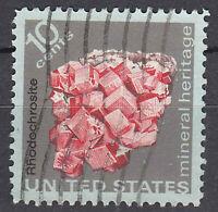 USA Briefmarke gestempelt 10c Mineral Heritage Rhodechrosite / 1261