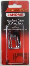 Janome AcuFeed Ditch Quilting Foot - 9mm Perfect for Patchwork NEW Snap On